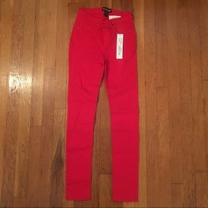 Pants - Red stretch jeggings/leggings